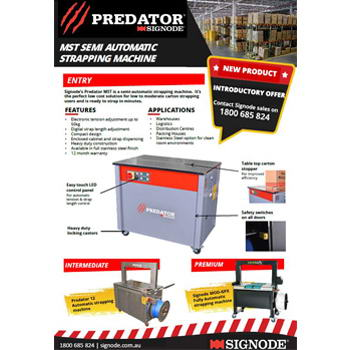 Signode Predator Semi Automatic Strapping Machine