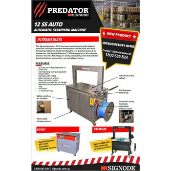 Signode Predator 12 SS Auto Stapping Machine